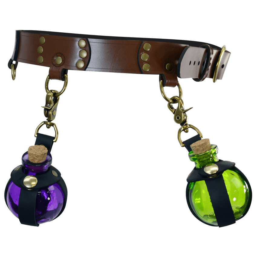Purple & Green On A Belt